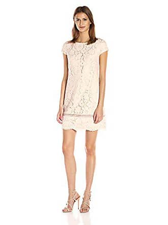 Vince Camuto Womens Lace Shift Dress, Blush, 10