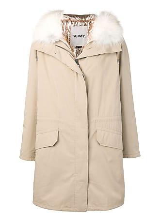 Yves Salomon - Army fox fur hooded coat - Neutrals
