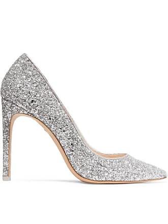 30ce9e32f61 Sophia Webster Rio Glittered Leather Pumps - Silver