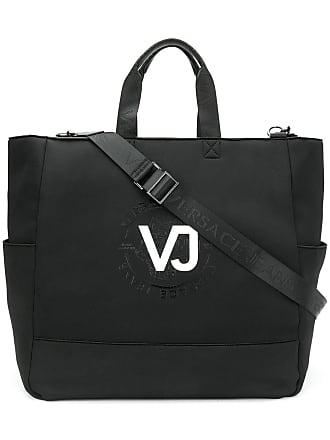 Versace Jeans Couture Bolsa tote com logo - Preto