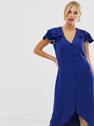 99c3f6816d3e Oasis tea dress with ruffles in blue