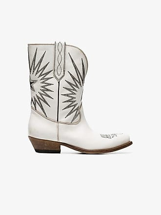cfff930b3f6a Golden Goose Golden Goose white Wish Star leather cowboy boots