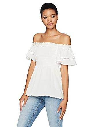 e51876b96be7a Max Studio Womens Cotton Crepeon Off The Shoulder Shirt