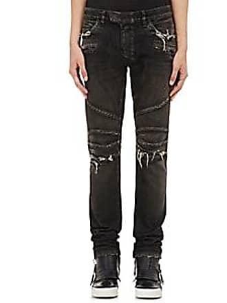 7cc7d6866c5 Balmain Mens Distressed Skinny Biker Jeans - Black Size 32