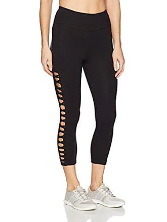 Betsey Johnson Womens Suede Crop Legging, Black, Extra Small