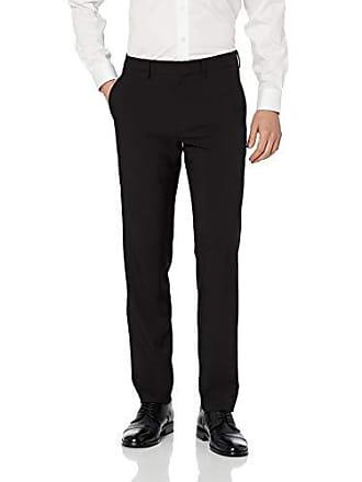 Haggar Mens Active Series Performance Straight Fit Flat Front Dress Pant, black, 33Wx30L