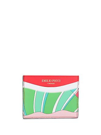 Emilio Pucci Shell Print Cardholder - Green
