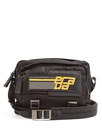 81aaf6cd19c0 Prada Logo Patch Nylon Cross Body Bag - Mens - Black