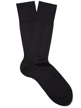 Falke No. 4 Silk-blend Socks - Midnight blue
