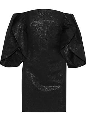 Halston Heritage Halston Heritage Woman Off-the-shoulder Metallic Cotton-blend Mini Dress Black Size 2