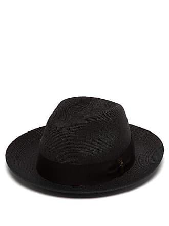 c2142d31de7bb5 Borsalino Woven Hemp Panama Hat - Mens - Navy