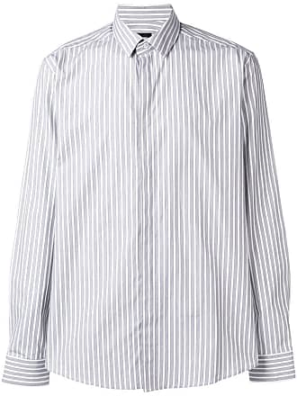 Les Hommes classic striped shirt - Branco