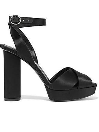 Oscar De La Renta Oscar De La Renta Woman Dasha Satin Platform Sandals Black Size 36