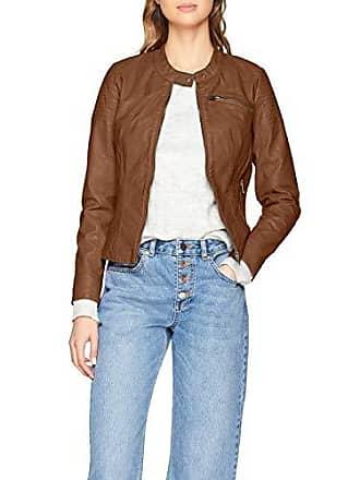 Only Onlflora Faux Leather Jacket CC OTW, Blouson Femme, Marron (Cognac), 7e4cdecc9c65