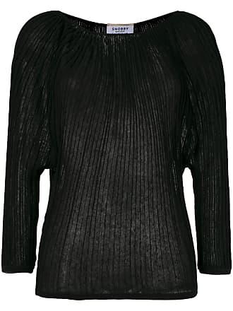 Snobby Sheep Suéter de tricô canelado - Preto