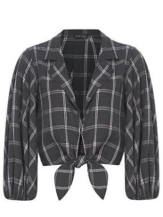 Iorane camisa Cropped Laço Xadrez Iorane - Preto