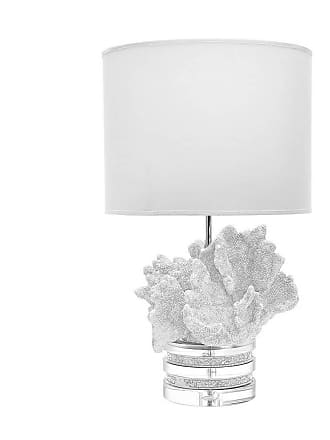 Dimond Home ELK Home Coral and Crystal 1-Light Table Lamp in White