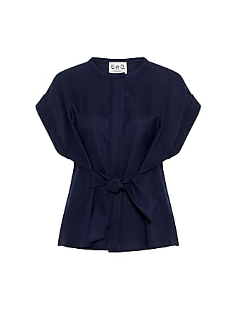 Sea New York Tie-front Wool Top Navy