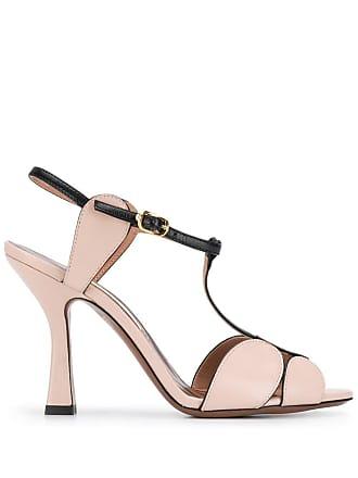 L'autre Chose circular front strap sandals - Pink