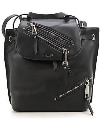 Marc Jacobs Backpack for Women, Black, Leather, 2017, one size