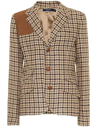 Polo Ralph Lauren Checked linen-blend blazer