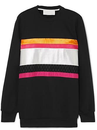 No Ka'Oi Hopena Color-block Cotton-blend Jersey Sweatshirt - Black
