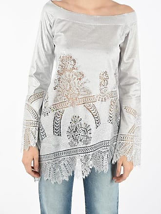 Ermanno Scervino Boat Neck Sweater with Lace Details size 42