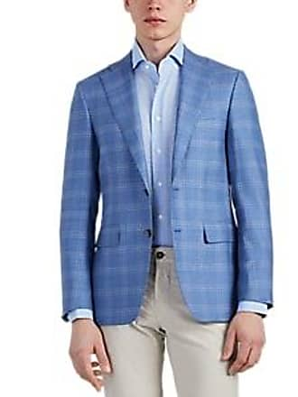 5a63f094968 Canali Mens Plaid Wool Two-Button Sportcoat - Light, Pastel blue Size 38 R