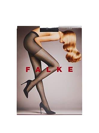 Falke Light Point Silver Lurex 3d Knit Fishnet Tights - Womens - Black Multi