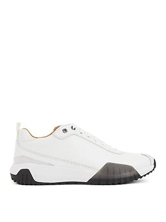 1c6c0fc7429 BOSS Hugo Boss Calf-leather sneakers Strobel construction 12 White