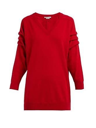 Queene and Belle Queene And Belle - V Neck Cashmere Sweater - Womens - Red