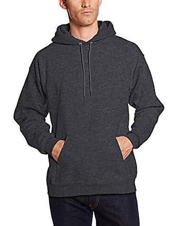 Hanes Mens Pullover Ultimate Heavyweight Fleece Hoodie, Charcoal Heather, Small