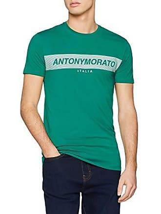ff292bdf18 Antony Morato T Shirt Girocollo con Stampa Logo Frontale