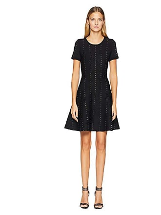 37068b9ea2e The Kooples Short Knit Dress with Vertical Studs (Black) Womens Dress