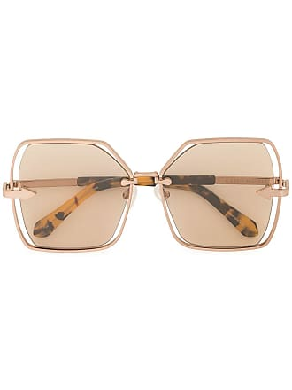 11c95ed2de Karen Walker Nirvana oversized frame sunglasses - Brown