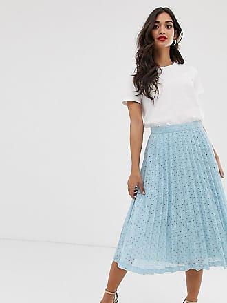 44ffd43665369 Asos Petite ASOS DESIGN Petite pleated midi skirt in broderie - Multi