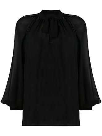John Richmond sheer blouse - Preto