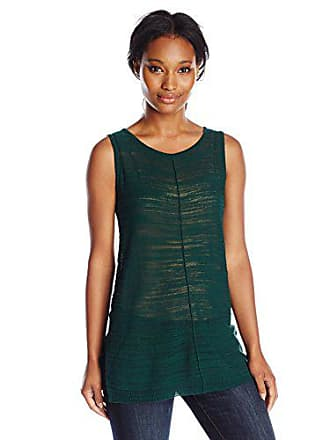 Joan Vass Womens Tunic Shell, Green, 0