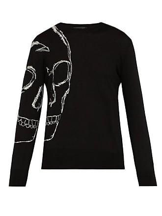 Alexander McQueen Alexander Mcqueen - Oversized Skull Crew Neck Sweater - Mens - Black Multi