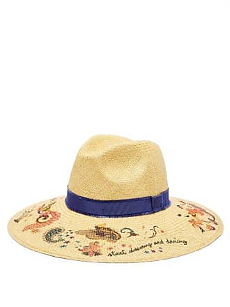 Etro Printed Straw Panama Hat - Womens - Beige