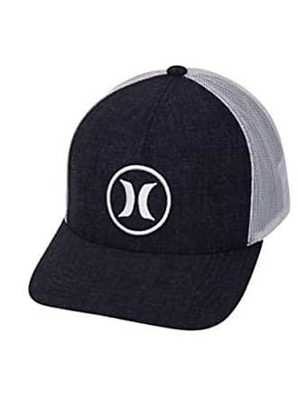 best sneakers a4730 990a8 Hurley Mens Logo Patch Curved Bill Trucker Baseball Cap, Obsidian, Qty