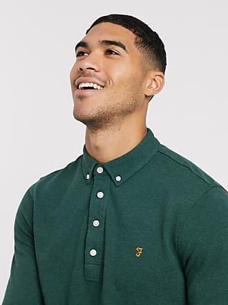 Farah Ricky - Langärmliges Polohemd-Grün