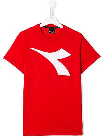 Diadora Camiseta com logo - Vermelho