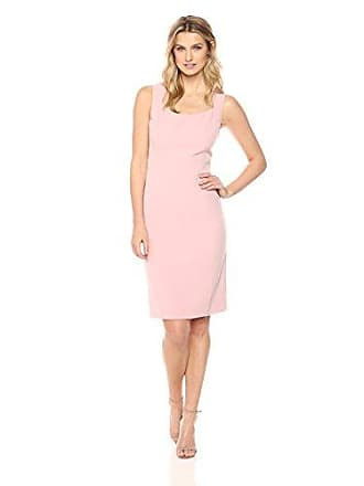 Kasper Womens Crepe Dress with Flare Detail, Blush Gold 8