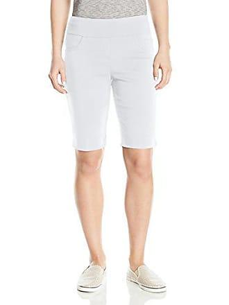 Ruby Rd. Womens Plus-Size Pull-on Solar Millennium Tech Short, White, 24W