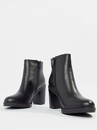 b397f438937 Raid RAID Wide Fit Lorena Black Plated Heeled Ankle Boots - Black