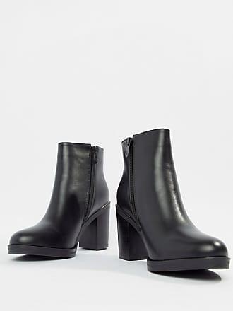 b653a928753 Raid RAID Wide Fit Lorena Black Plated Heeled Ankle Boots - Black