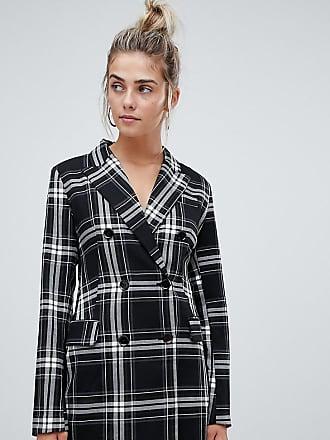 Bershka check print blazer dress in multi - Multi