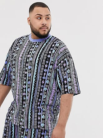 3fc1ba8f Asos Plus two-piece oversized t-shirt with all over geo-tribal print