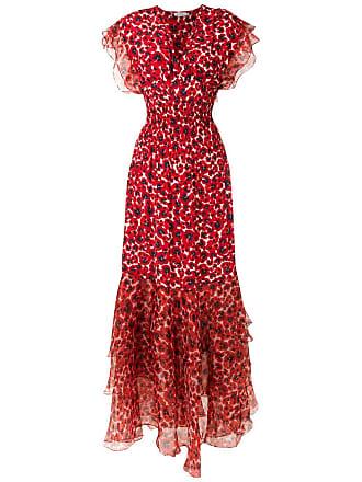 Isolda Vestido longo Pri de seds - Vermelho
